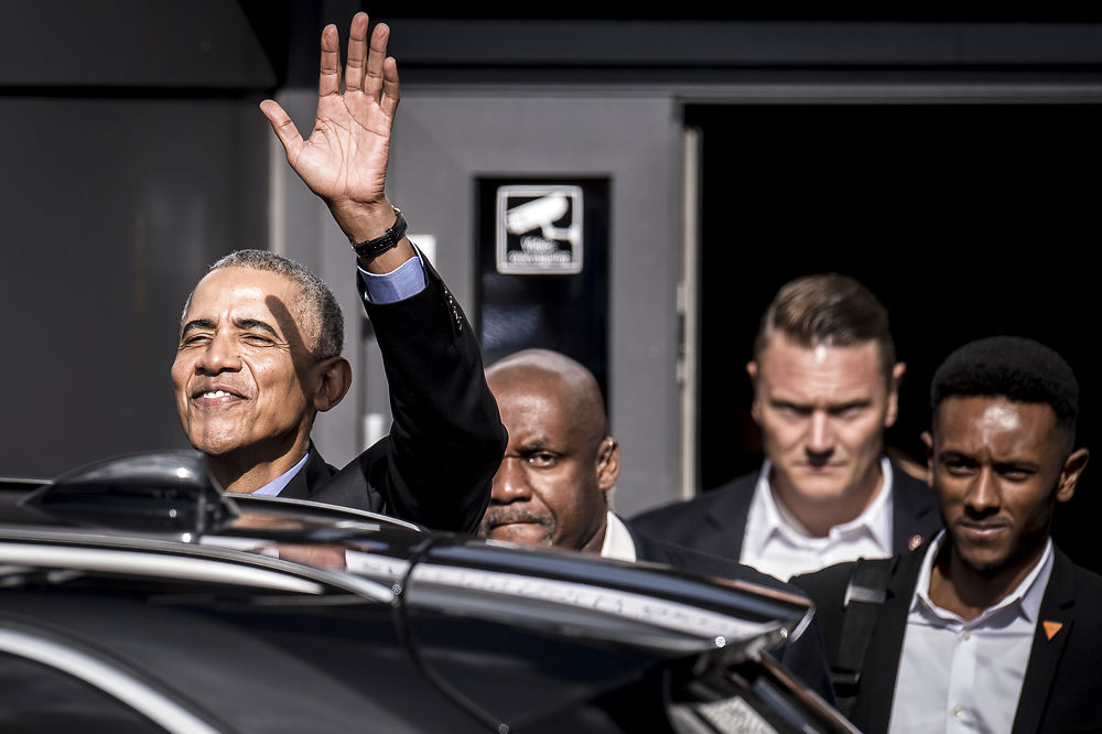 Former US President Barack Obama in Kolding, Denmark (December 2018)