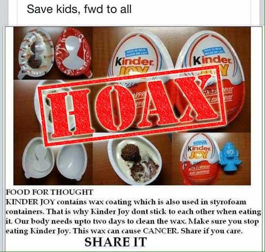 Does Kinder Joy Wax Coating Cause Cancer?