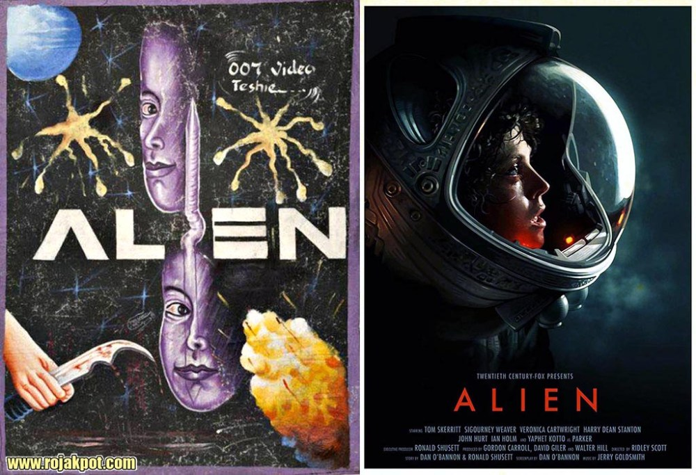 Alien - Ghana movie poster compared