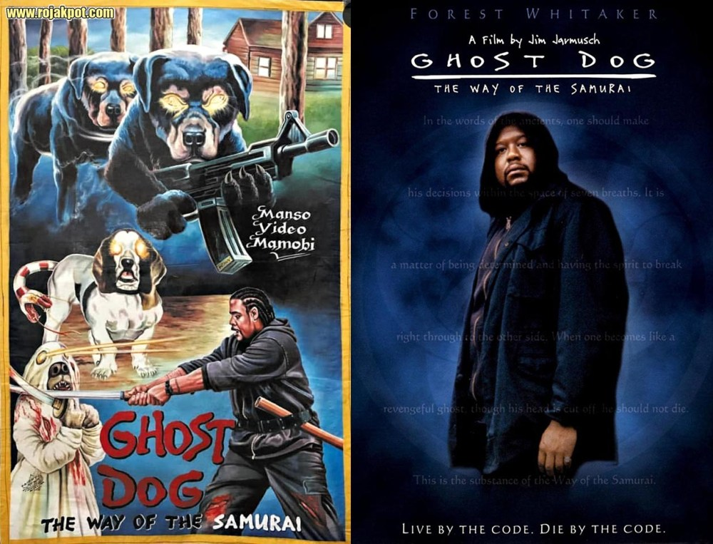Ghost Dog - Ghana movie poster compared