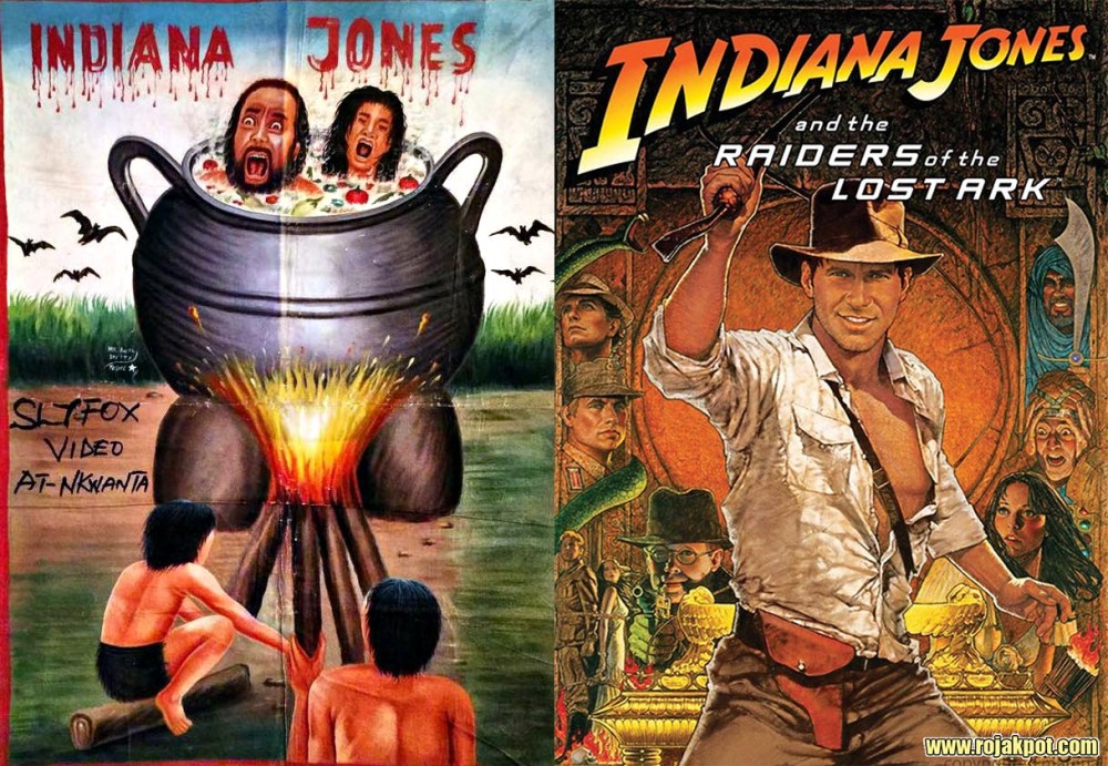 Indiana Jones - Ghana movie poster compared