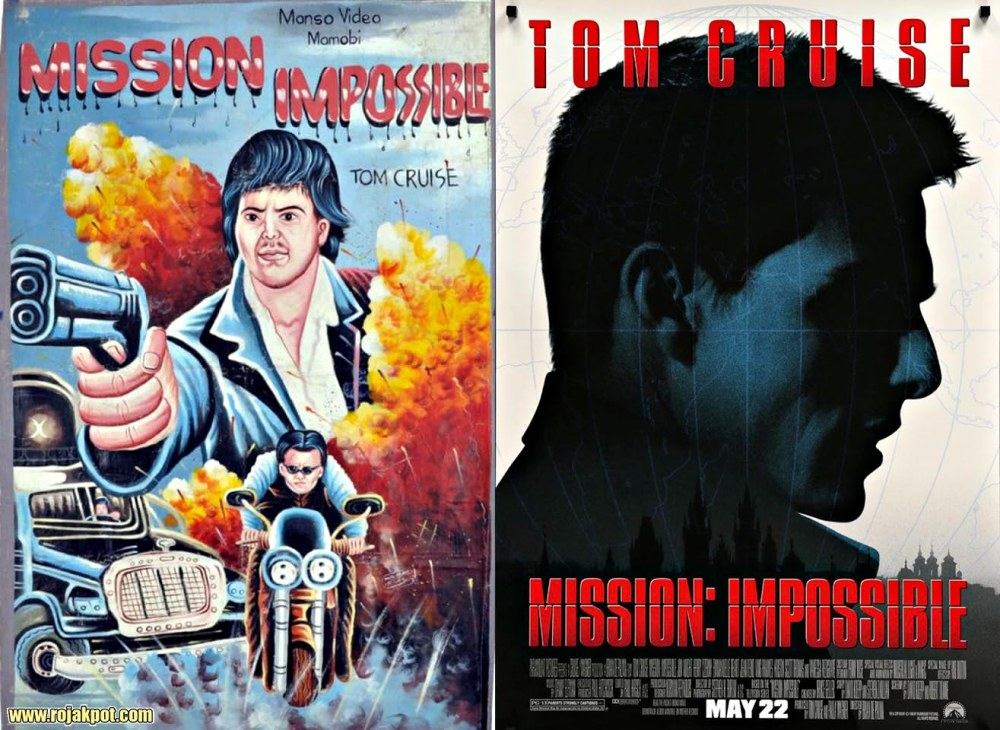 Mission Impossible - Ghana movie poster compared