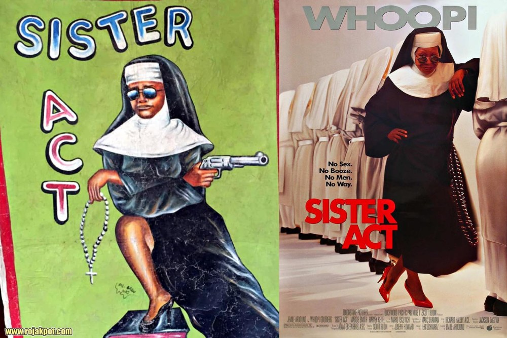 Sister Act - Ghana movie poster compared