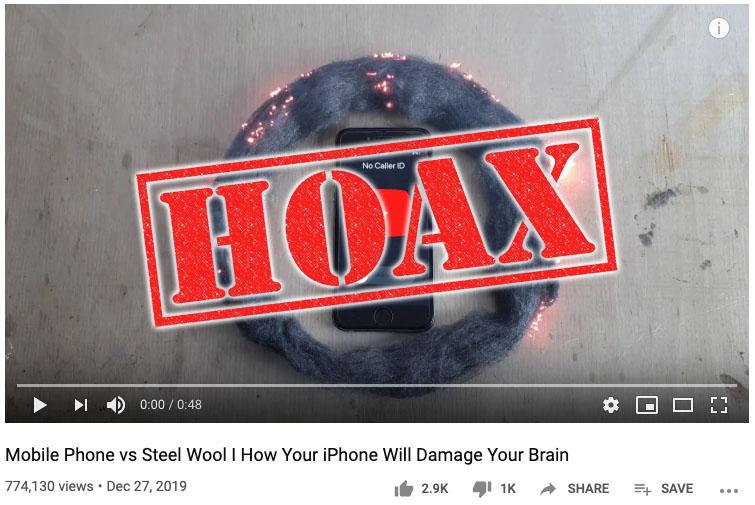 iPhone Steel Wool ViralVideoLab hoax