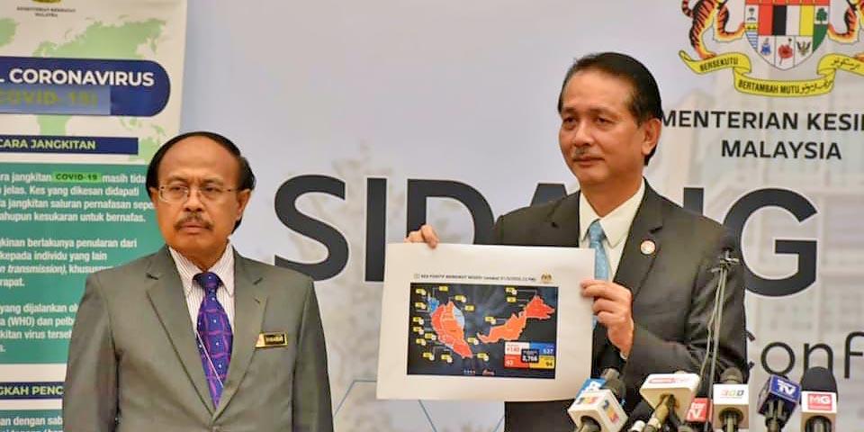 COVID-19 in Malaysia : 2766 Cases, 140 New, 6 More Dead