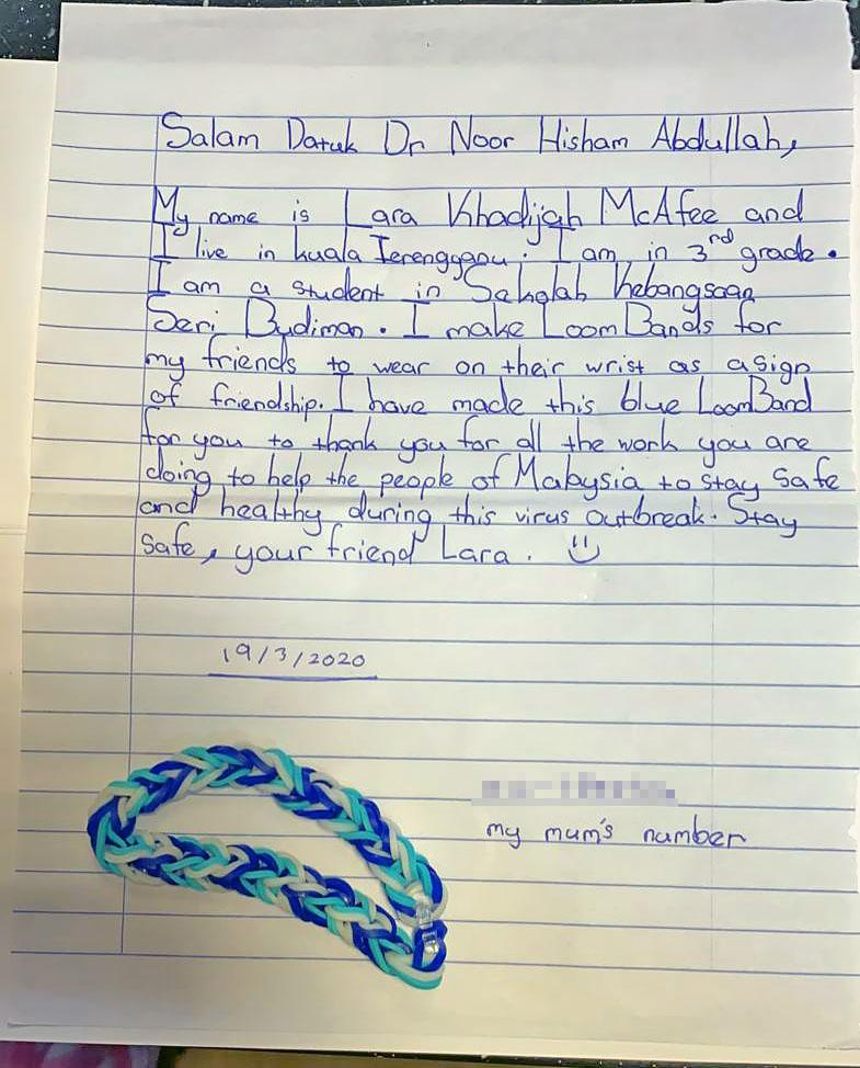 Lara's Letter to Dr Noor Hisham Abdullah