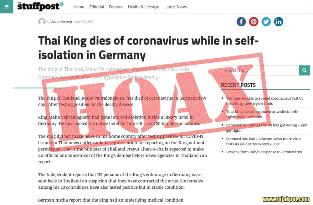 NYCINews Thai King death hoax