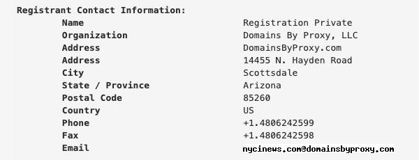 NYCINews domain WHOIS