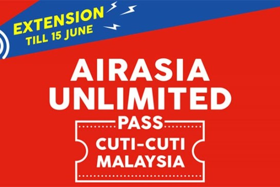AirAsia DOMESTIC Unlimited Pass : Extended To 15 June!