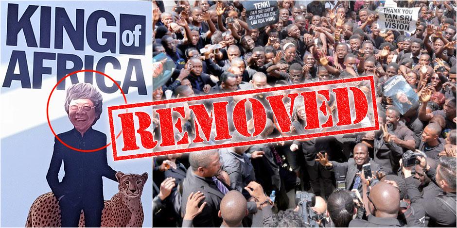 Limkokwing King of Africa Billboard Taken Down, But...