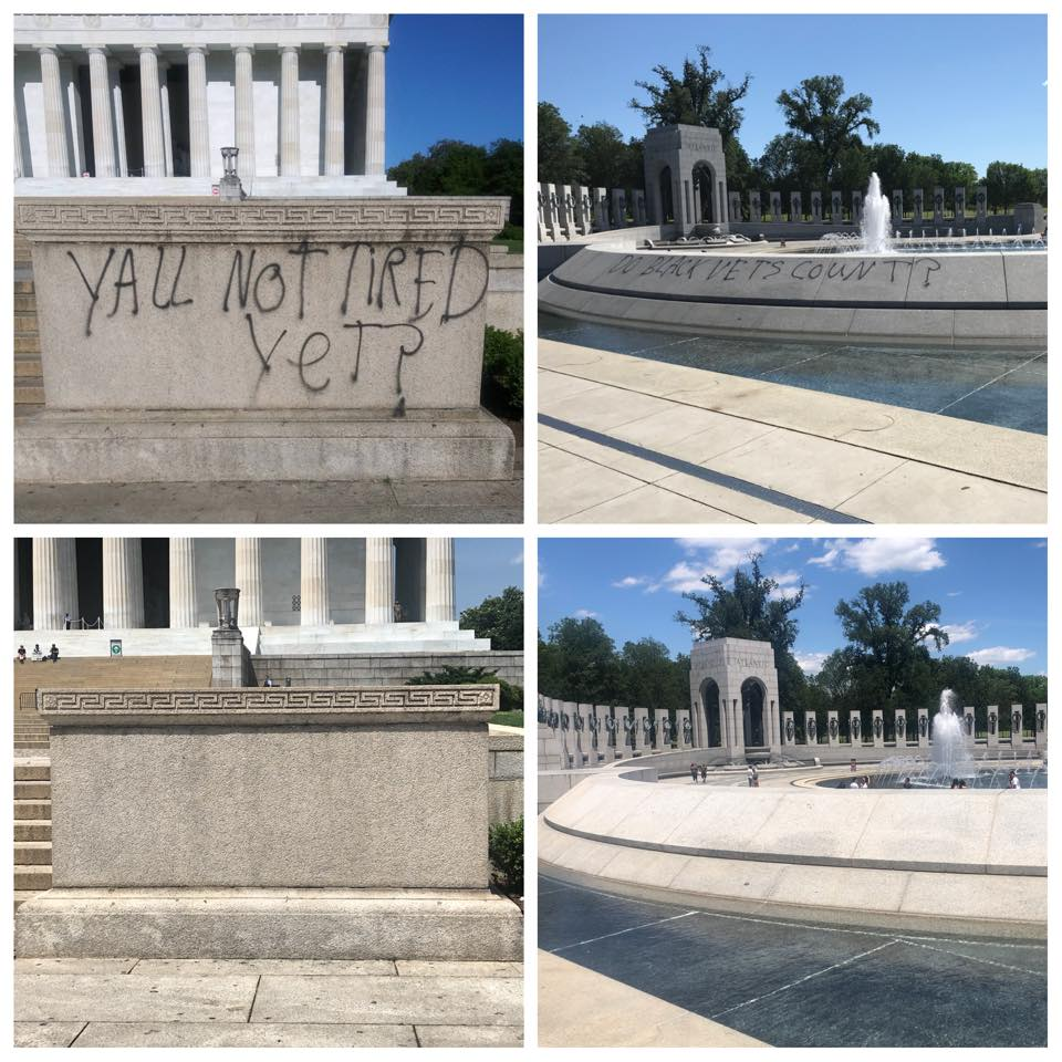 Lincoln Memorial defaced cleaned 01