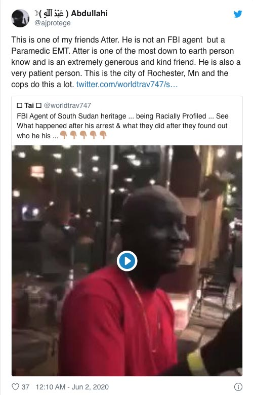 White Cops Arresting Black FBI Agent Identity