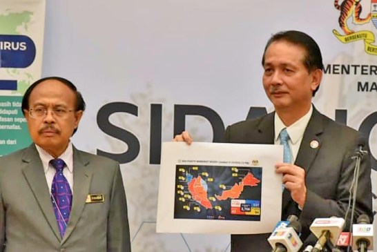 COVID-19 Malaysia : 8831 Cases, 8566 Recovered, 123 Dead