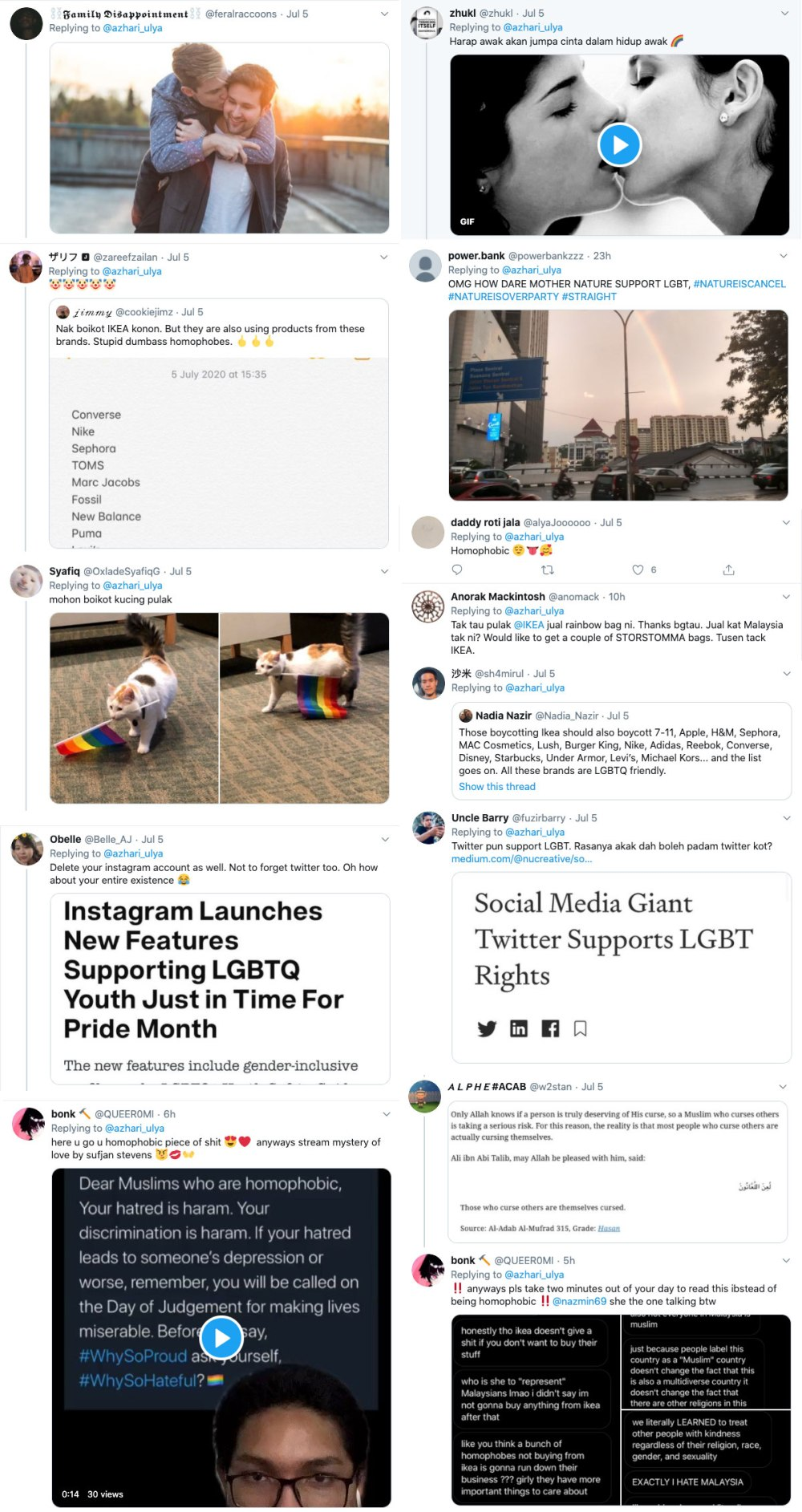 IKEA LGBT Support Tweets