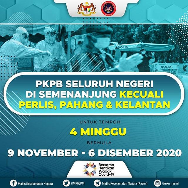 KL, Putrajaya + 8 States : CMCO Lockdown Until 6 December!