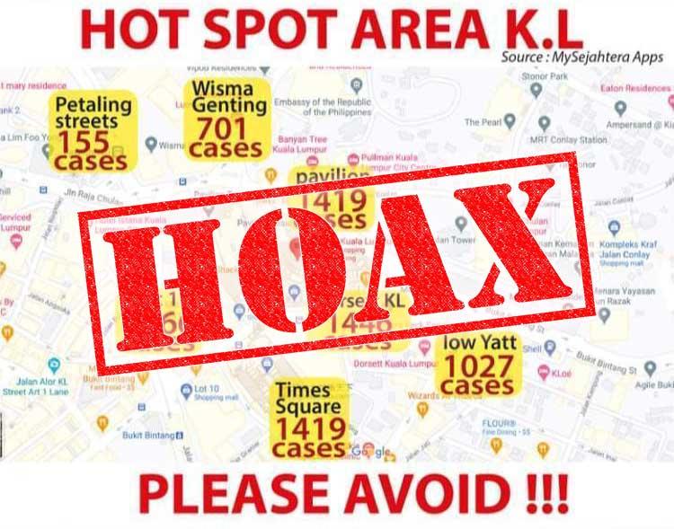 COVID-19 Hot Spot Areas In KL : NOT TRUE!