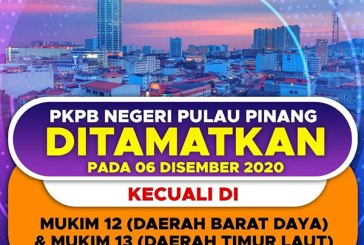 Penang CMCO Ends On 6 December, Except For 2 Mukims!