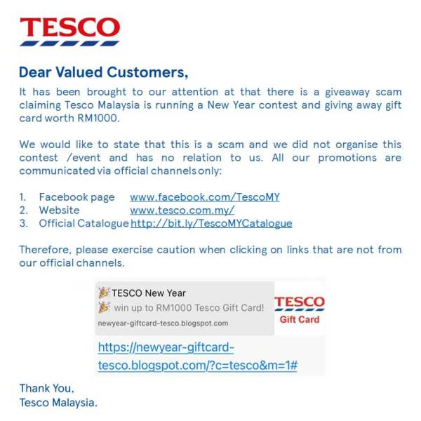 Tesco New Year Scam : Do NOT Click Or Share!