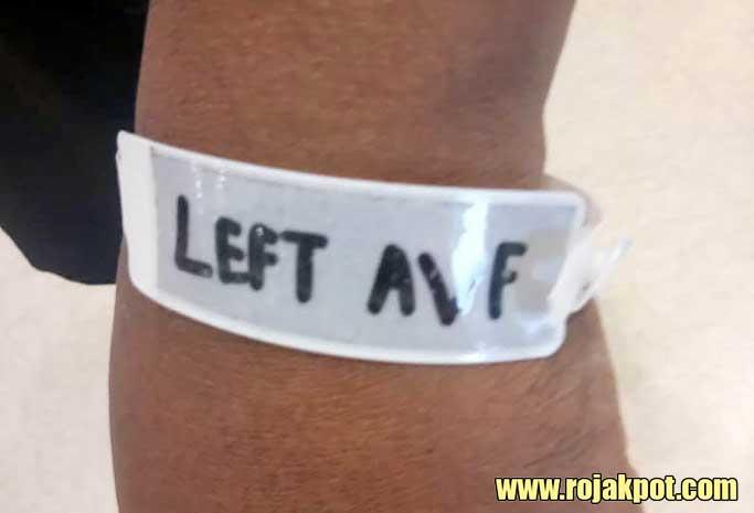 Tesco Peringgit Melaka man Left AVF bracelet