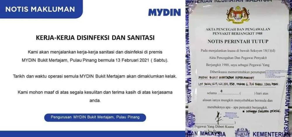 MYDIN Bukit Mertajam : Shut Down After COVID-19 Exposure!
