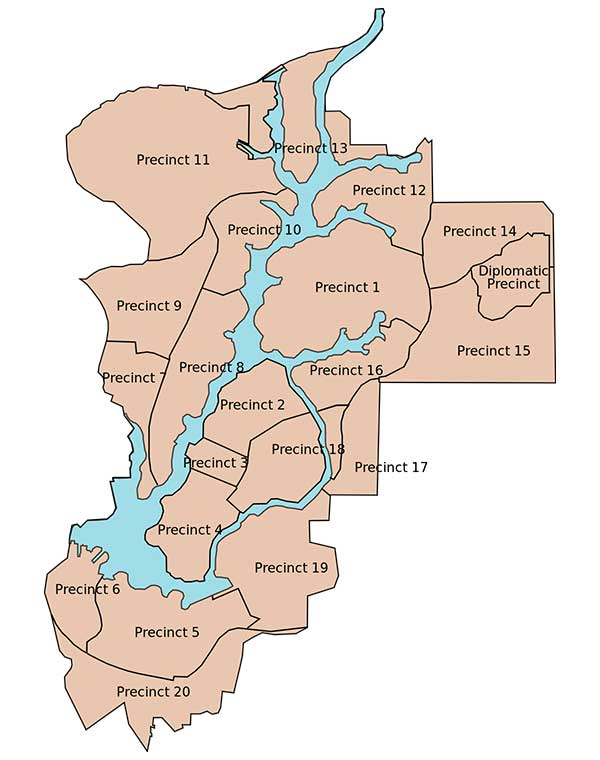 Putrajaya districts