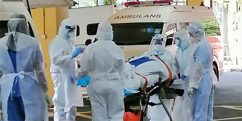 COVID-19 in Malaysia : 595374 Cases, 508947 Discharged, 3096 Dead