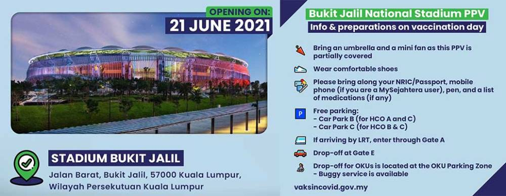 Bukit Jalil Stadium Vaccination Centre : Step-by-Step Guide!