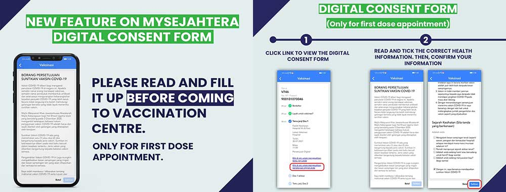 MySejahtera Launches Digital Consent Form For Vaccination!
