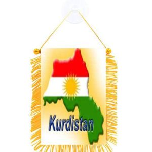 Karta över Kurdistans flaggform