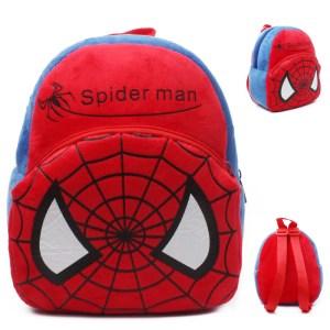 Barn tecknad skolväska djur billig söt ryggsäck- Spider man