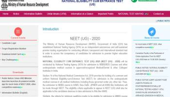 Neet Result 2020 Direct Link At Www Ntaneet Nic In Live Updates Nta Neet Ug September Exam Result 2020 Score Card Rank Online At Www Ntaneet Nic In Neet Result 2020 Live Updates Nta Neet Result 2020