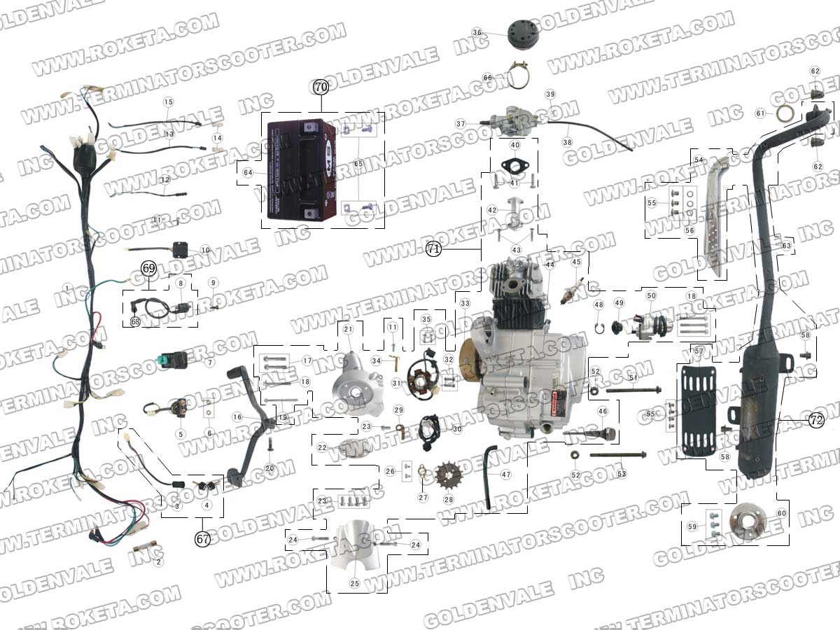 50 Chinese 4 Wheeler Wiring Diagram