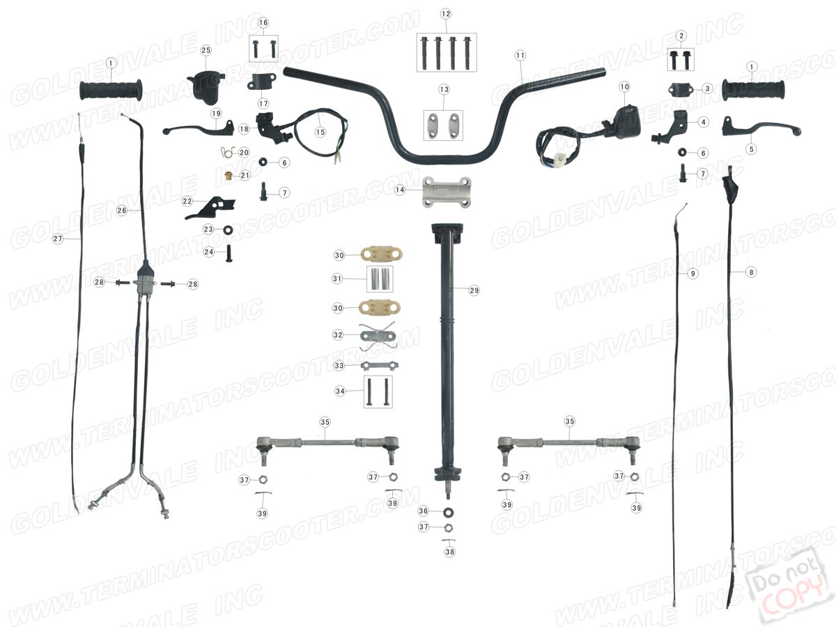 Roketa Atv 02 Steering Assembly Parts