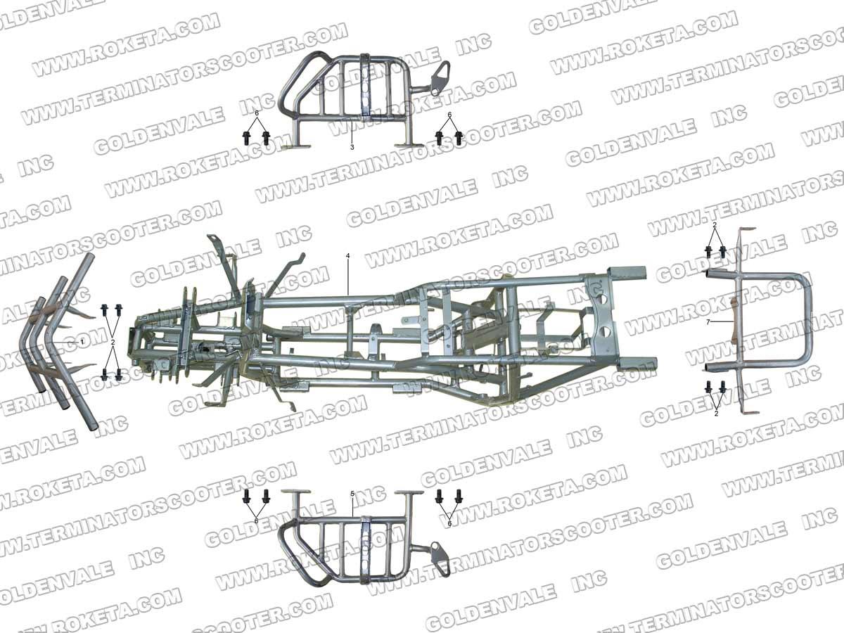 Roketa Atv 17ws Frame Parts