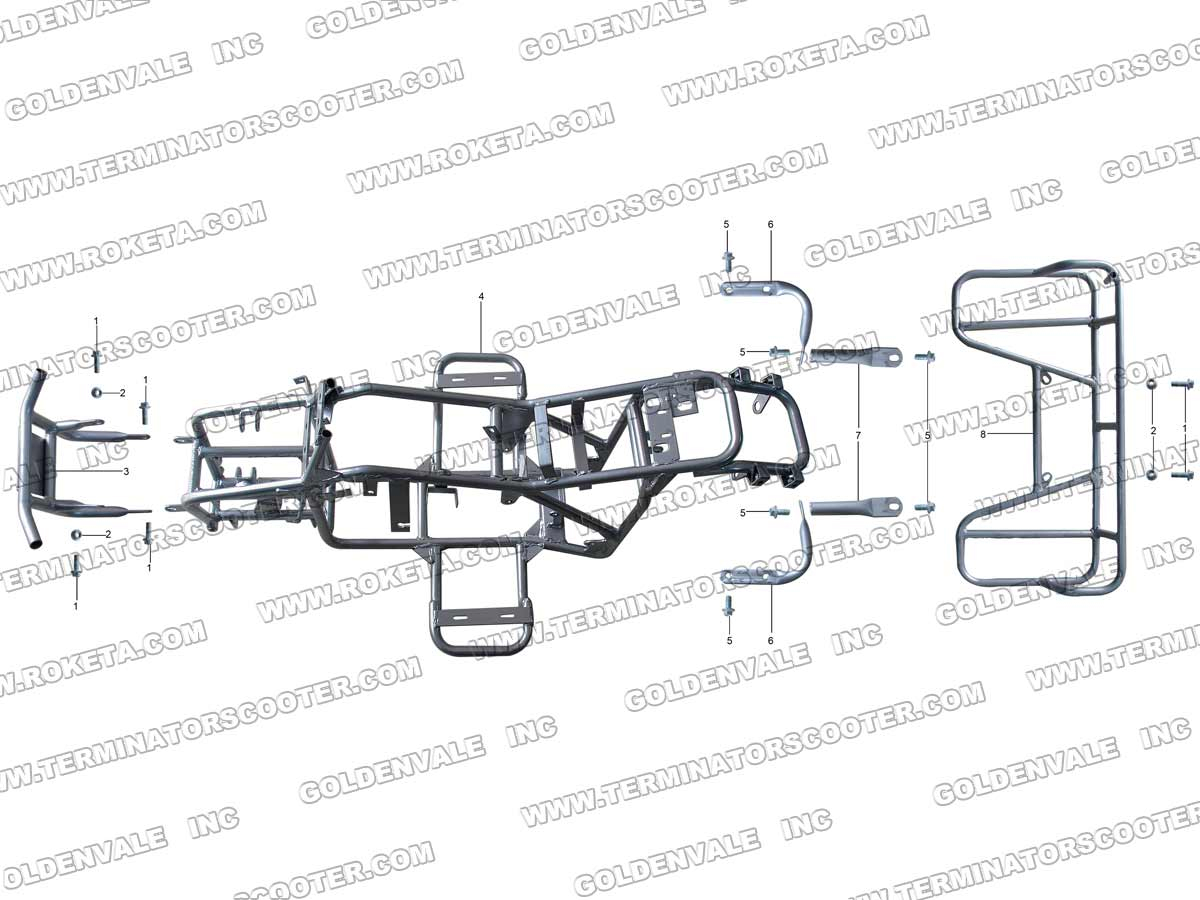 Roketa Atv 20ar Frame Parts