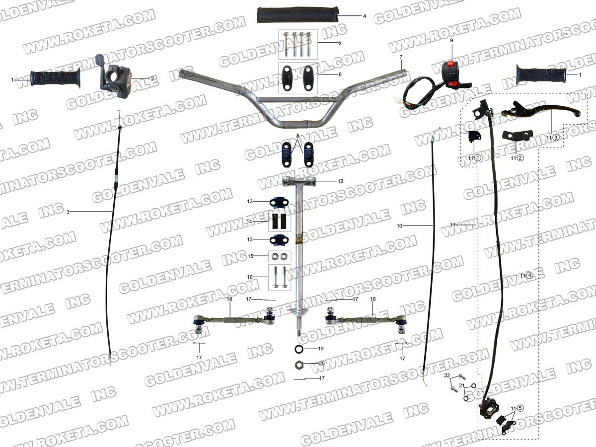 For Eton 4 Wheeler Wiring Harness