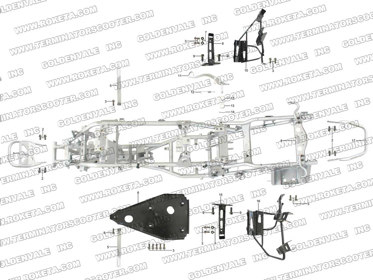 Roketa Atv 61 Frame Parts