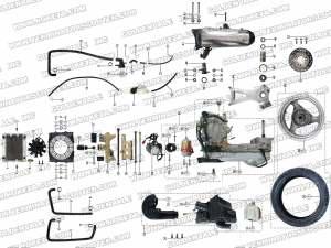 ROKETA MC54250 ENGINE AND EXHAUST PARTS