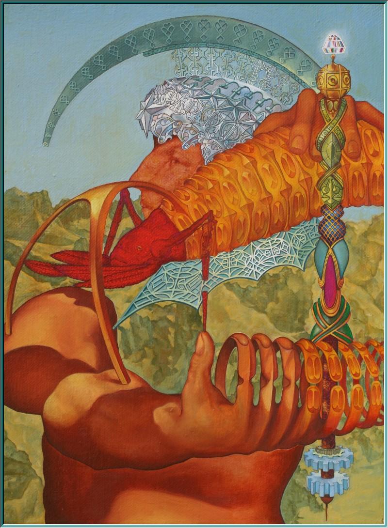 Palast der Republik,  Babel, Olymp sitz der Götter, Sintflut,  Ölgemälde Surrealismus, Gilgamesch, Paradies,  Diktat, Fiktion, Himmelsreich, neue Weltordnung, Konnex,  Autonomie, Fatalismus,10000 Räume, Mythologie,  Kurtisanen, alchimistische Illuminaten, Frater Rosenkreuz,  Obskurant, Goldmacherkunst, Brodem, Geistesfeuer, Seelenwasser