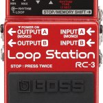 Red and black BOSS Loop Station RC-3