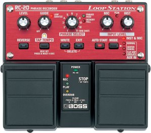 Red and black BOSS Loop Station RC-20