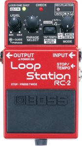 Red and black BOSS Loop Station RC-2