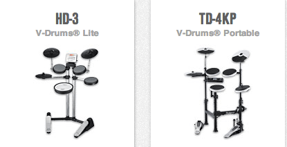 Roland V-Drums HD-3 and TD-4KP