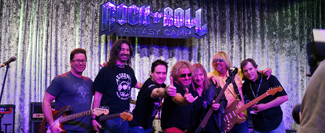 Wes and the Mob Dawgs with Sammy Hagar at Rock n Roll Fantasy Camp