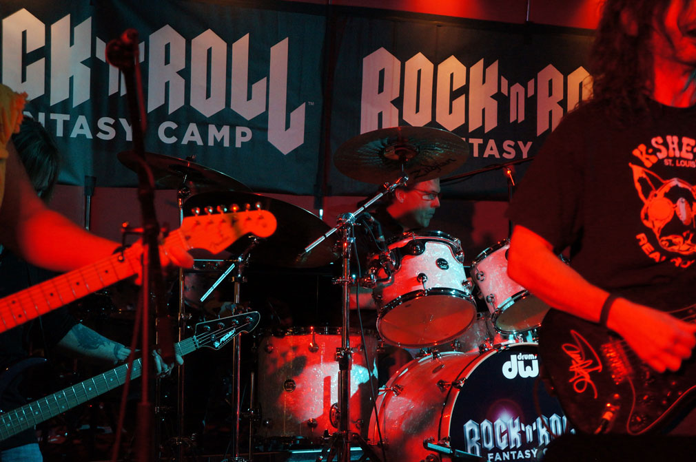 Wes at Rouge lounge for Rock n Roll Fantasy Camp