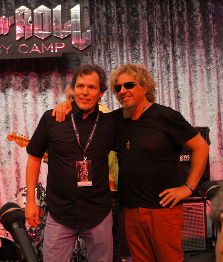 Wes Faulconer and Sammy Hagar at Rock n Roll Fantasy Camp