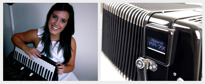 Alicia Baker with the FR-7X V-Accordion