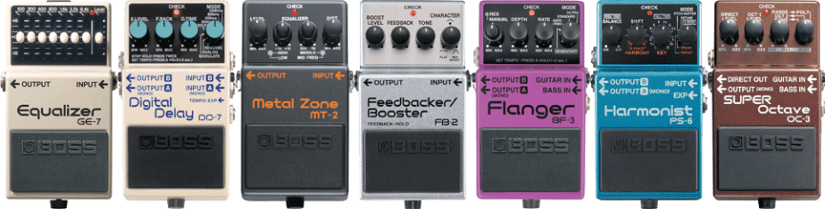 metal guitar chain effects pedals