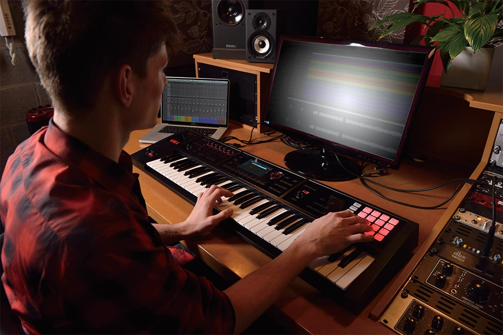 Roland FA-06 Music Workstation used for DAW production