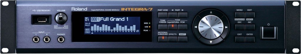 integra-7 sound module front